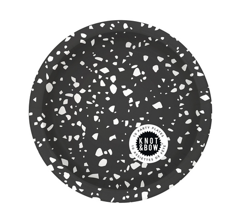 Silver Star Confetti Party Plates