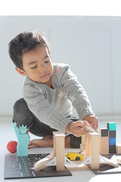 Kukkia Wooden NYC Machi Town Playset on DLK | designlifekids.com