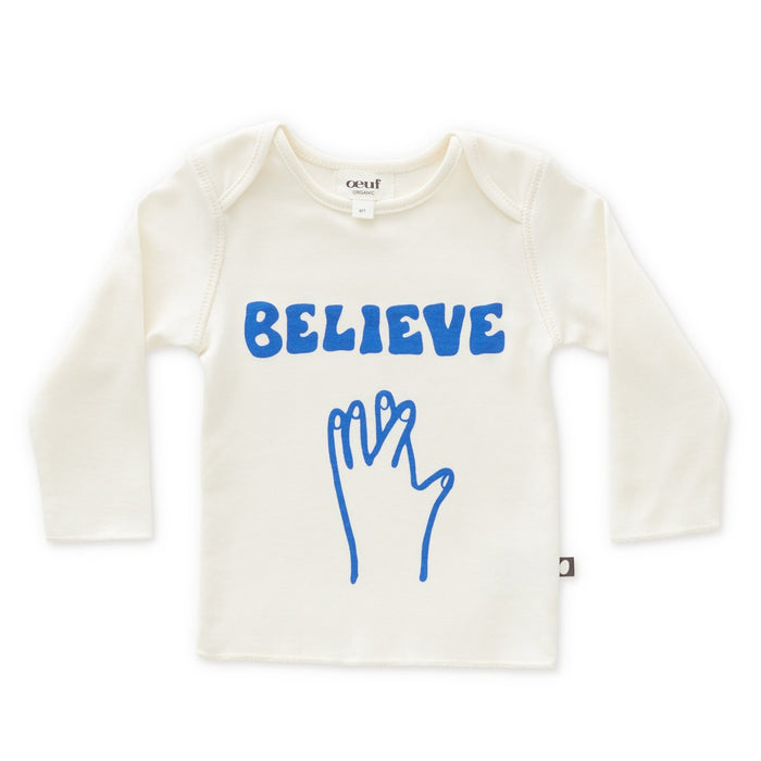 Oeuf Long Sleeve Believe Tee on Design Life Kids