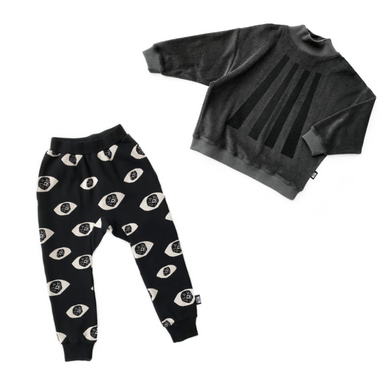 Little Man Happy Eyes Sweatpants on Design Life Kids