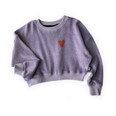 Little Man Happy Love Terry Cropped Sweater on Design Life Kids