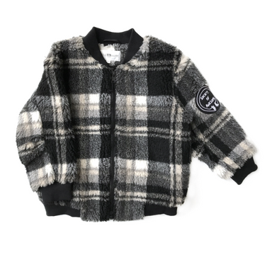Little Man Happy Teddy Bomber Jacket on Design Life Kids