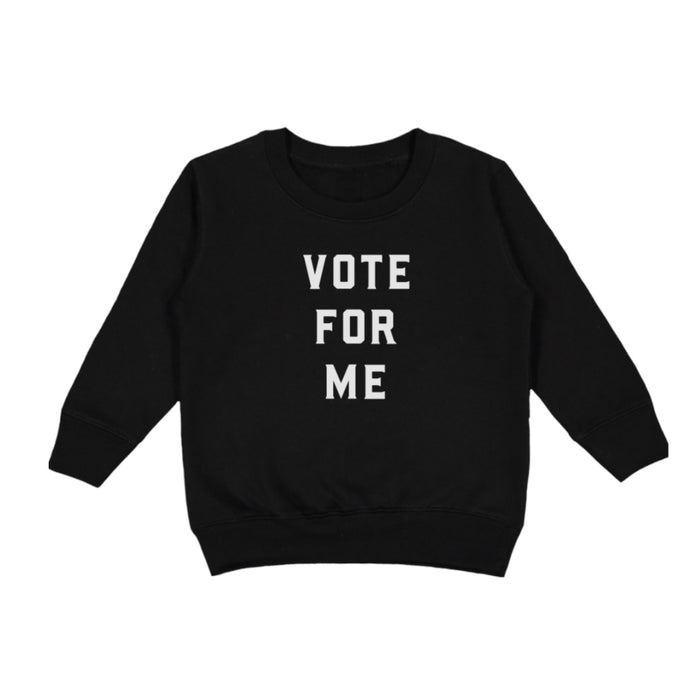Love Bubby Vote for Me Sweatshirt on Design Life Kids