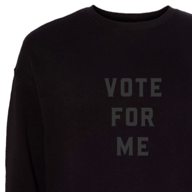 Love Bubby Adult Black Vote Sweatshirt on Design Life Kids