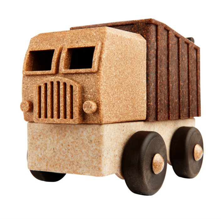 Luke's Toy Factory All Natural Toy Dump Truck on Design Life Kids
