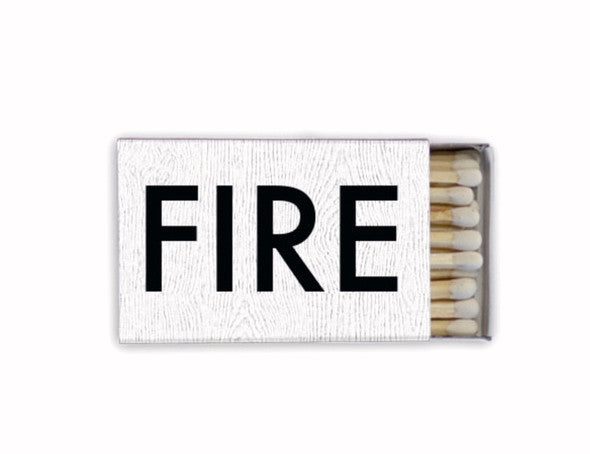 DLK Exclusive WHITE FIRE MATCHBOX