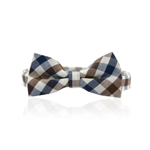 Milk & Soda Two Toned Checkered Bow Tie on DLK | designlifekids.com