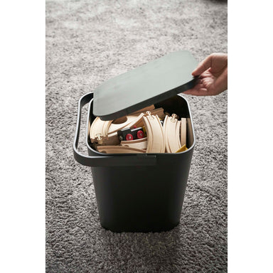 Matte Plastic Storage Bin  on Design Life Kids