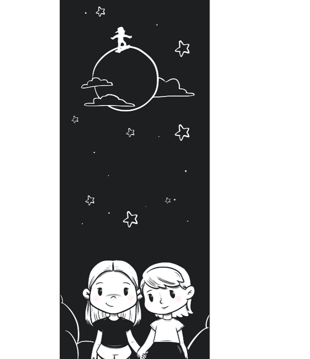 Maya & Senna On The Moon Skateboard on DLK | designlifekids.com