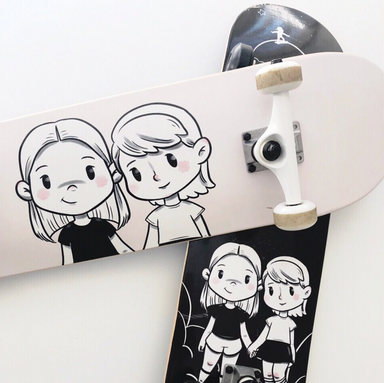 Maya and Senna Skateboard on DLK