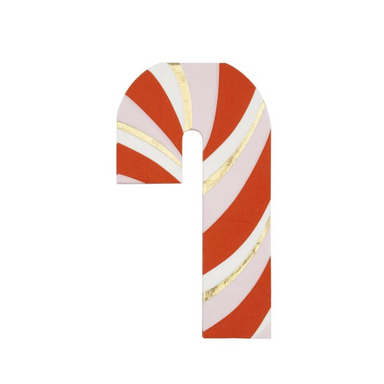 Meri Meri Candy Cane Shaped Party Napkins on Design Life Kids