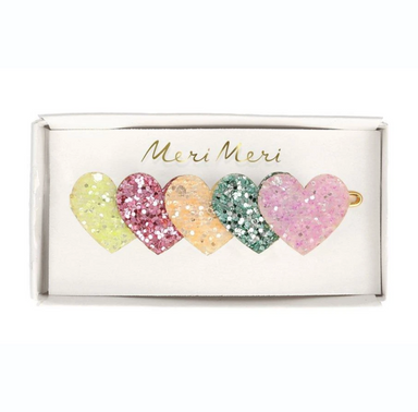 Meri Meri Heart Glitter Hair Clip on Design Life Kids