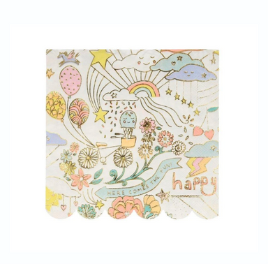 Meri Meri Happy Doodle Retro Kawaii Party Napkins on Design Life Kids