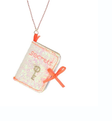Meri Meri Secrets Diary Book Necklace on Design Life Kids