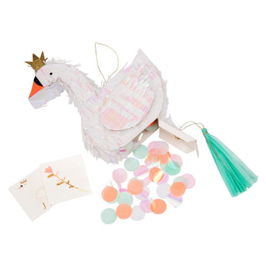 Meri Meri Swan Pinata Party Favor on DLK .