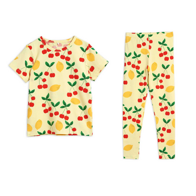 Mini Rodini Cherry Lemonade Leggins on Design Life Kids