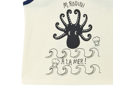 Mini Rodini Octopus Tank Top on Design Life Kids