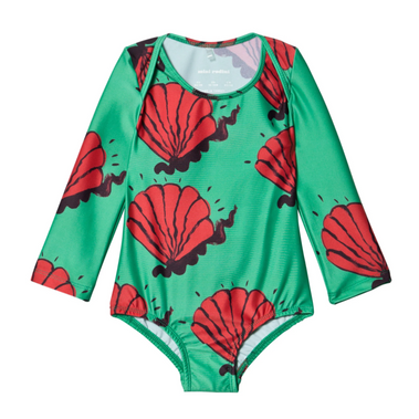 Mini Rodini Shells Bathing Suit Rash Guard on Design Life Kids