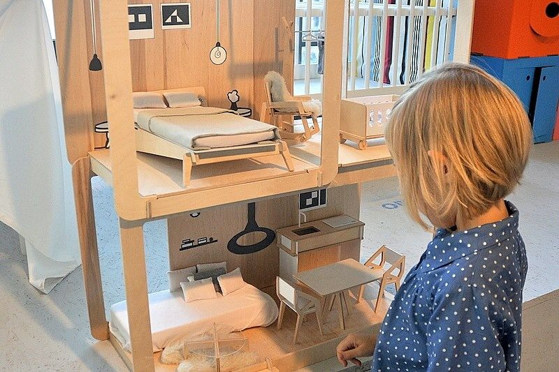 Miniio Modern Mountain House Dollhouse on Design Life Kids