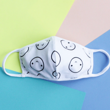 Mochi Kids Happy Face Mask on Design Life Kids