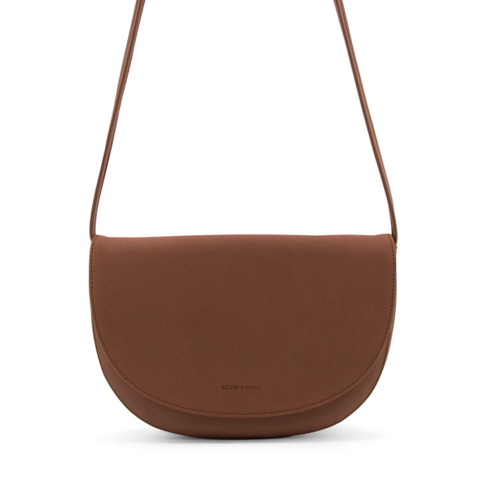 Monk and Anna Vegan Leather Soma Half Moon Bag on Design Life Kids Dawn