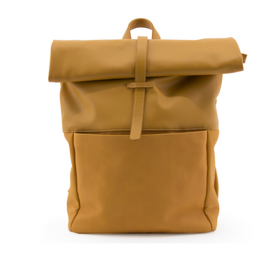 Monk and Anna Vegan Leather Rolltop Backpack on Design Life Kids