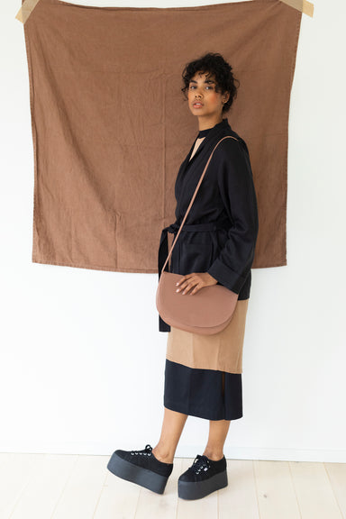Monk and Anna Vegan Leather Soma Half Moon Bag on Design Life Kids