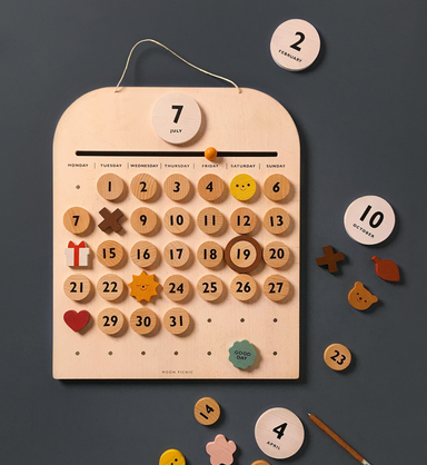 Moon PIcnic Wooden My Calendar on Design Life Kids