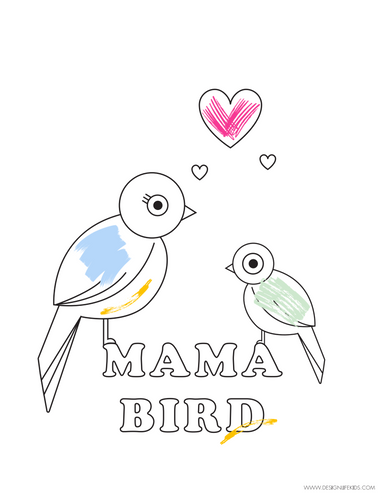 Mother's Day Free Printables and Coloring Book on Design Life Kids