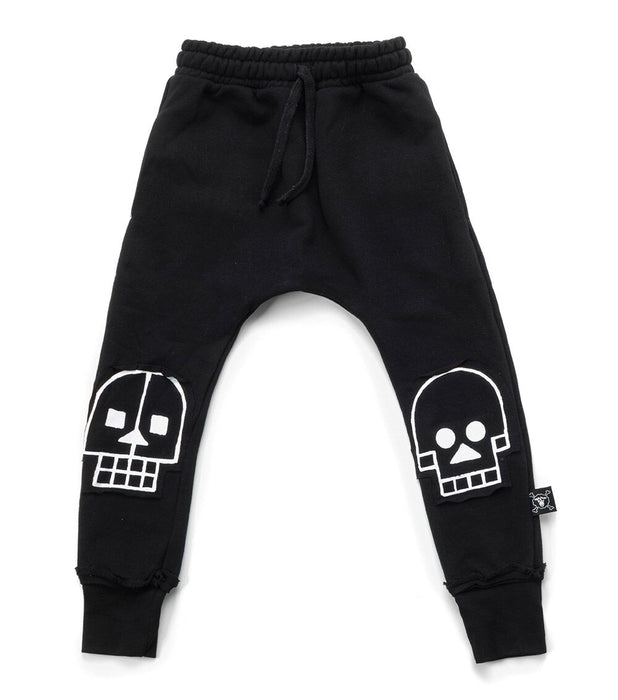 Nununu Skull Robot Patch Baggy Pants on DLK | designlifekids.com