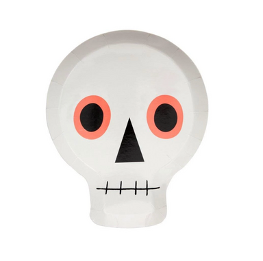 Meri Meri Neon Skull Party Plates on Design Life Kids