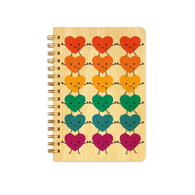 Night Owl Kawaii Happy Hearts Notebook on Design Life Kids
