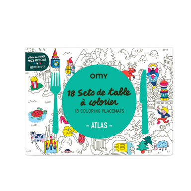 OMY Coloring Placemats on Design Life Kids