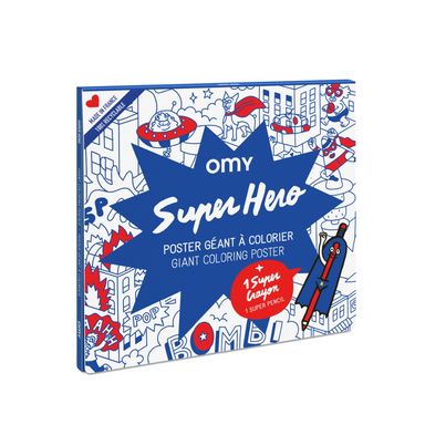 OMY Coloring Poster on Design Life Kids