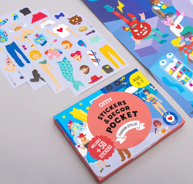 OMY Fashion Stylist Sticker Decor Book on Design Life Kids