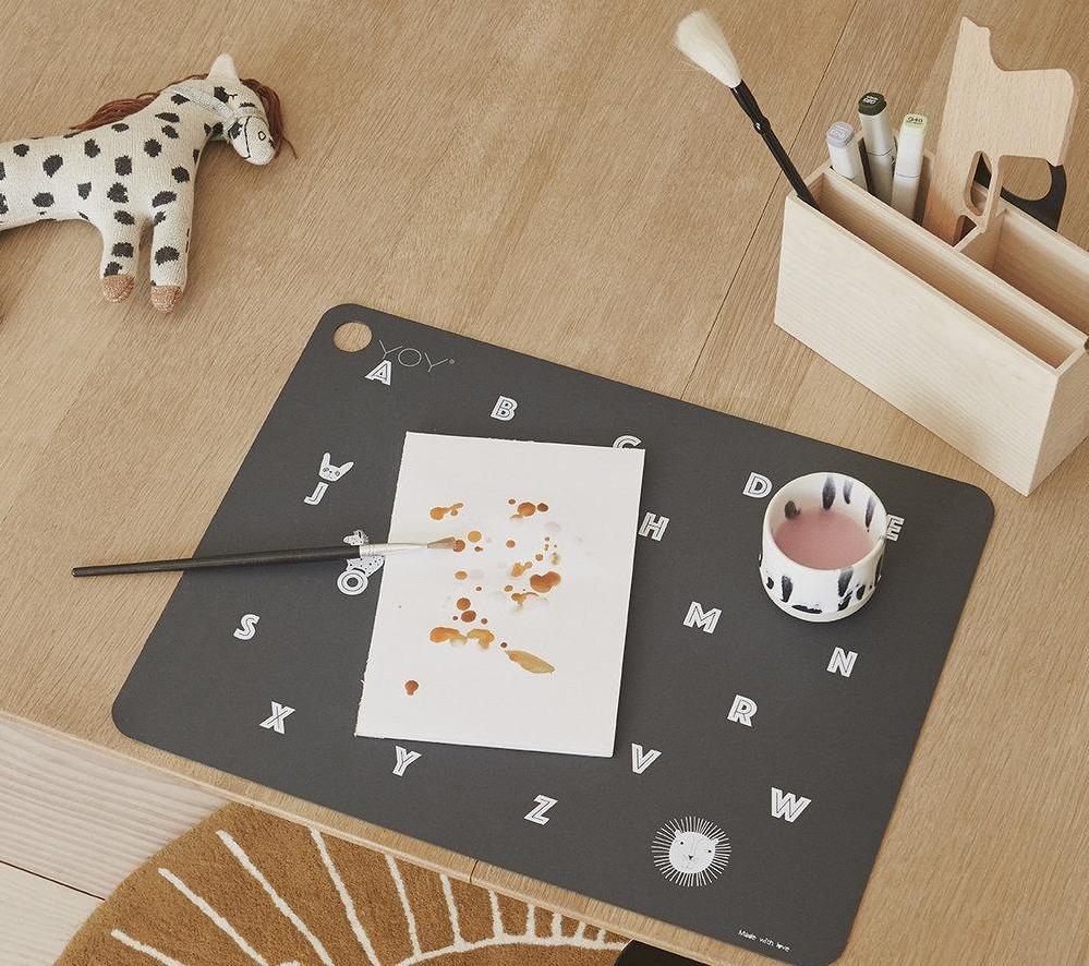 OYOY Living Alphabet Placemat on DLK | designlifekids.com