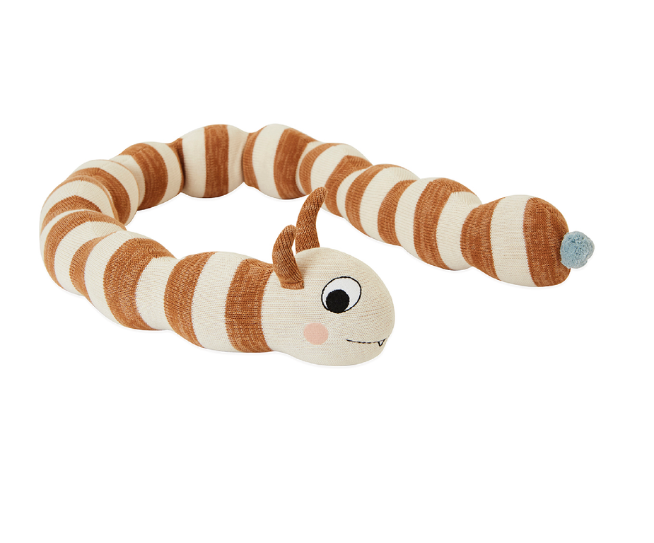 OYOY Leo the Larva Knit Doll on DLK | designlifekids.com