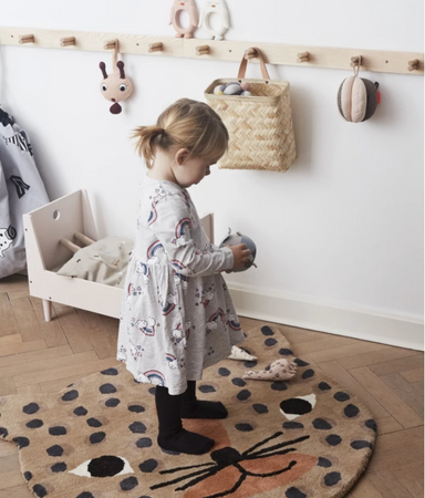 OYOY Leopard Shaped Rug on Design Life Kids