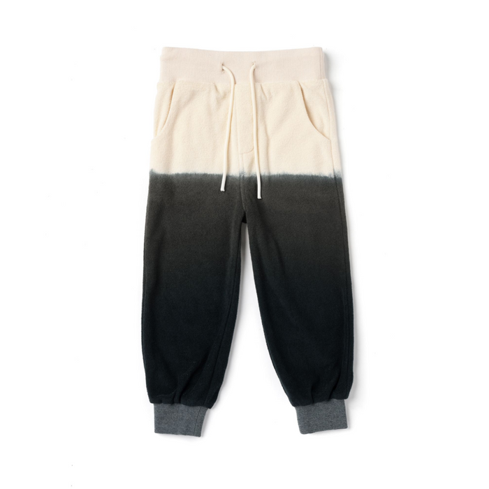 Omamimini Black Ombre Terry Sweatpants on Design Life Kids