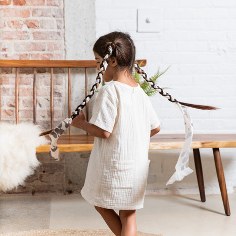 Omamimini Gauze Shift Dress on Design Life Kids