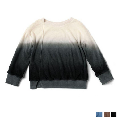 Ombre Oversized Terry Pullover