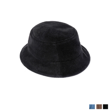 Omamimini Black Terry Bucket Hat on Design Life Kids