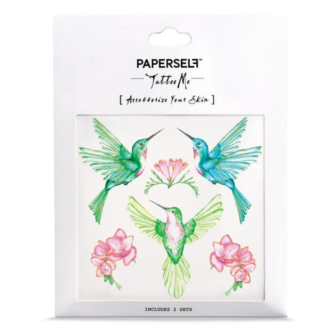 Paperself Hummingbird Tattoo on DLK | designlifekids.com