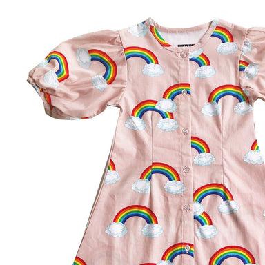 Romey Loves Lulu Rainbow Puff Sleeve Dress on Design Life Kids