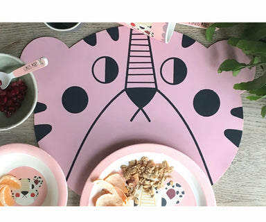 Studio Loco Pink Bear Placemat on Design Life Kids
