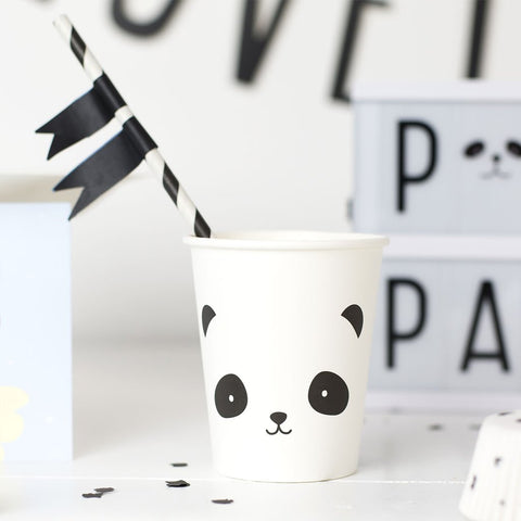 A Little Lovely Company Panda Party Cups on DLK | designlifekids.com