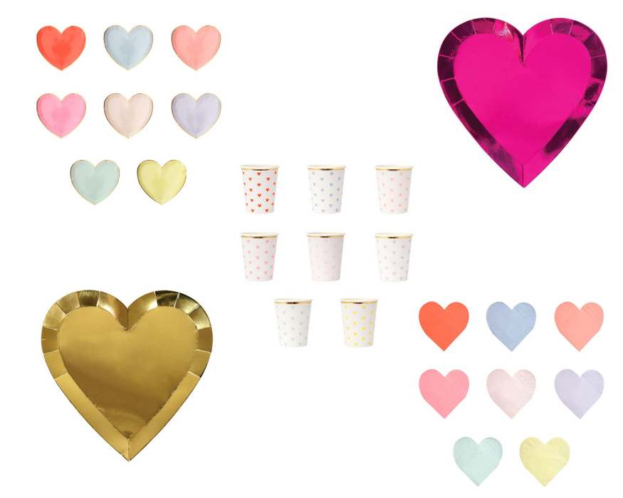 Meri Meri Party Palette Heart Cups on DLK | designlifekids.com