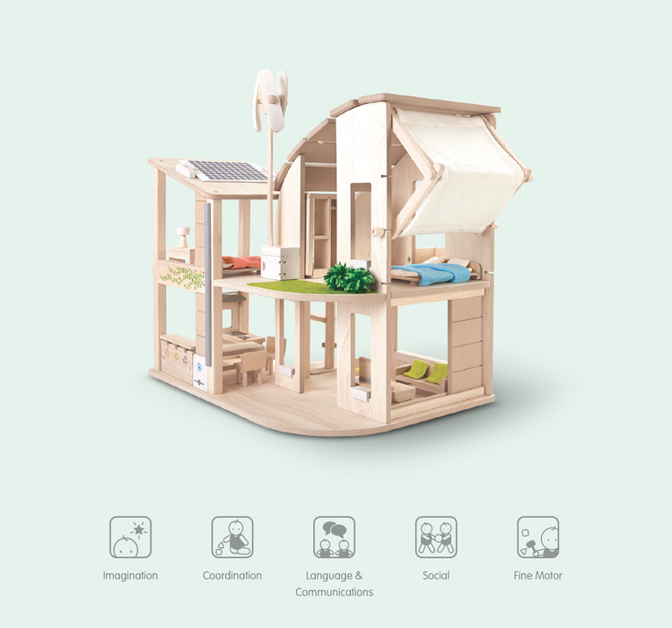 Plan Toys Wooden Green Dollhouse on Design Life Kids