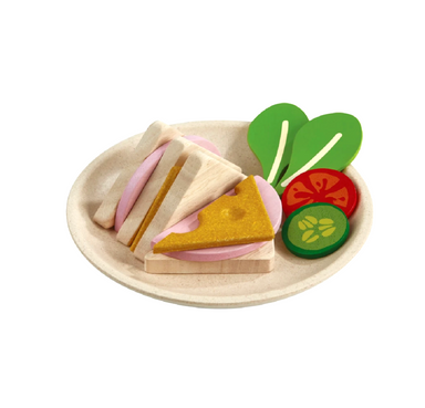 Plan Toys Pretend Sandwich Set on Design Life Kids