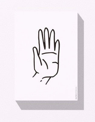 Playtype High Five Postcard Block on DLK